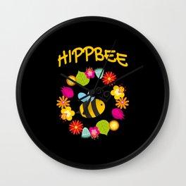 Hippie Bee Wall Clock