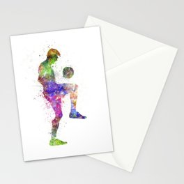 man soccer football player Stationery Cards