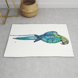 Parrot Watercolor | Endangered Birds Collection Rug