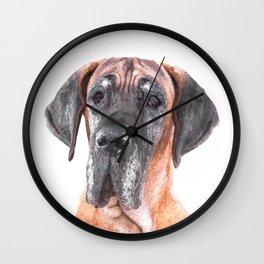 Great Dane Portrait Wall Clock