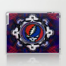 Grateful Dead 'Steal Your Face' Psychedelic Skull Optical Illusion Laptop & iPad Skin