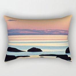 Circle of Rocks and the Sea at Dusk Rectangular Pillow