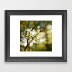 Abstract bokeh tree Framed Art Print