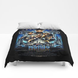 Black Panther movie Poster Comforters