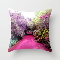road Throw Pillows featuring Road by haroulita