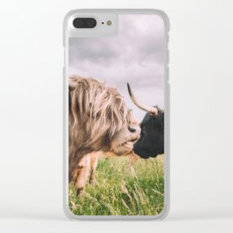 Highland Cows Clear iPhone Case