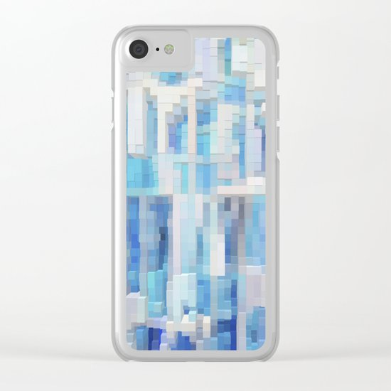 Abstract blue pattern 2 Clear iPhone Case
