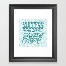 Success Rides Tandem Framed Art Print