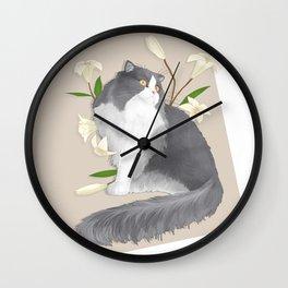Cat Som Wall Clock