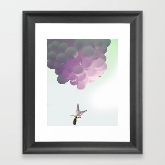 by a thread_ ballon girl Framed Art Print