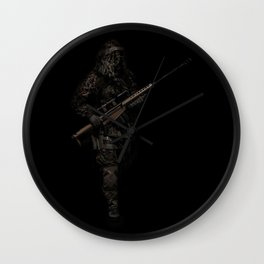 Soldier from the jungle Wall Clock