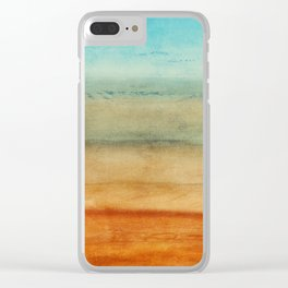 Abstract Seascape No 4: the beach Clear iPhone Case