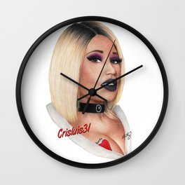Killer Bride Drawing Wall Clock