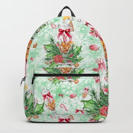 Christmas gingerbread candy cane #2 Backpack