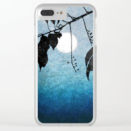 SILHOUETTE OF THE MOON #1 Clear iPhone Case