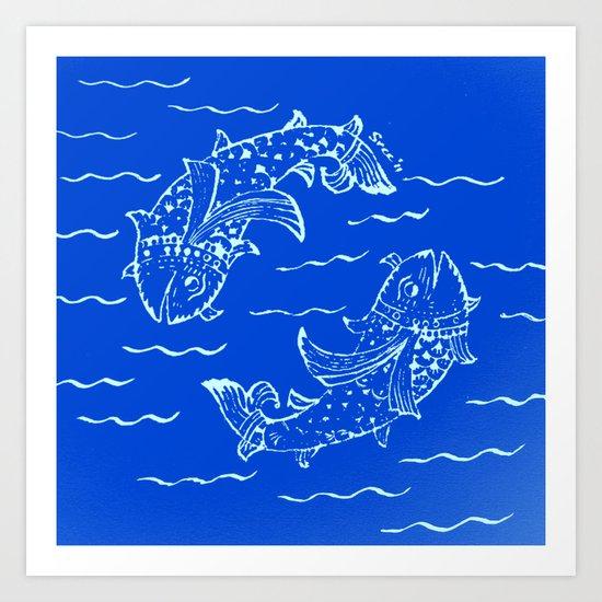 Happy fish- 1 Art Print