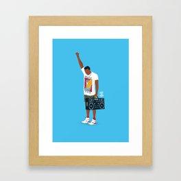 Radio Raheem Framed Art Print
