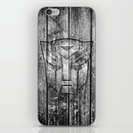 Autobot Monochrome Wood Texture iPhone Skin