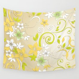 Flowers wall paper 2 Wall Tapestry
