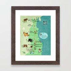 Appalachian Trail Hiking Map Framed Art Print