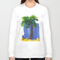 palm tree Long Sleeve T-shirts featuring Palm Tree  by Thom Lupari
