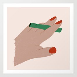 Smoker and Thinker Art Print