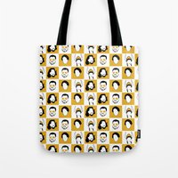 big lebowski Tote Bags featuring The Big Lebowski by Qc Illustrations