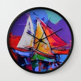 Sails Colors Wall Clock