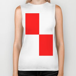 TEAM COLORS 4..red, white Biker Tank