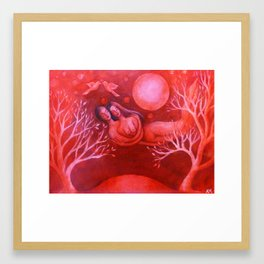 Lovers in a Red Sky Framed Art Print