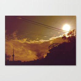 tower glare Canvas Print