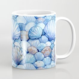Sea Shells Aqua Coffee Mug
