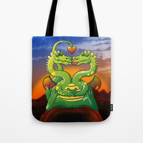 Dragons Madly in Love Tote Bag