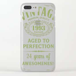 Green-Vintage-Limited-1993-Edition---24th-Birthday-Gift Clear iPhone Case