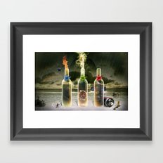 Three Flavors of Fate Framed Art Print