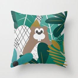 Beaver wilderness Throw Pillow