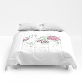 WORLD Map Pink #globe #7 Comforters