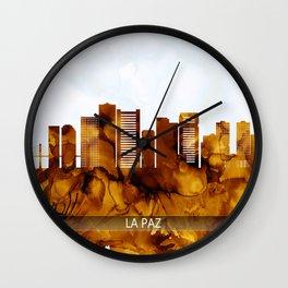 La Paz Bolivia Skyline Wall Clock