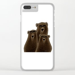 If you're going to be a bear, be a Grizzly! Clear iPhone Case