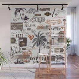 Retro label pattern Wall Mural