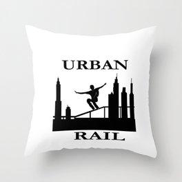 URBAN RAIL Throw Pillow