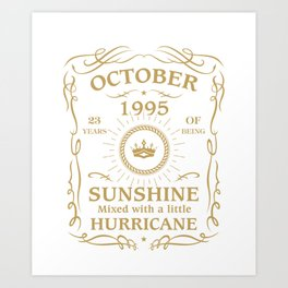 October 1995 Sunshine mixed Hurricane Art Print