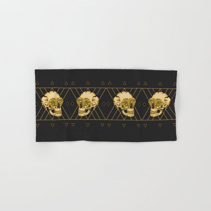 Golden Skull composition  Hand & Bath Towel