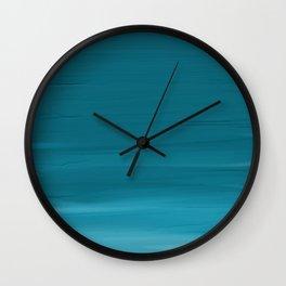 Turquoise Acrylic Wall Clock