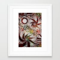 holiday Framed Art Prints featuring Holiday by Klara Acel