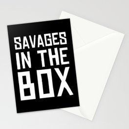 Savages in the box Stationery Cards