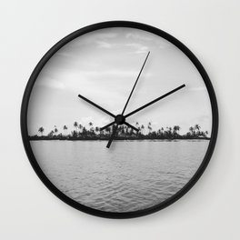 San Blas Islands, Panama - Black & White Wall Clock