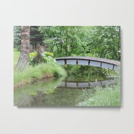 reflection of bridge scenic view synic Metal Print