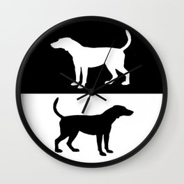 Foxhound Wall Clock