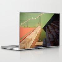 tennis Laptop & iPad Skins featuring Distorsion Tennis by Sébastien BOUVIER